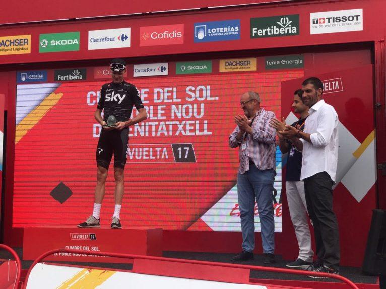 Chris Froome en el podio