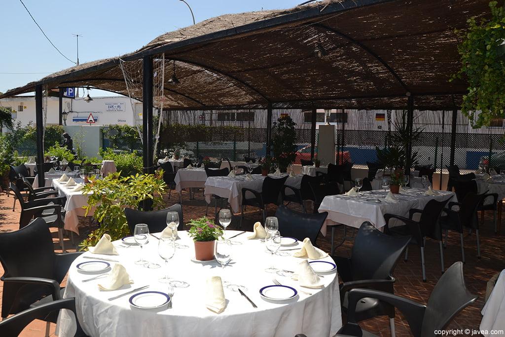 Terraza exterior Restaurante-Montevideo