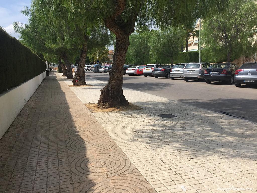 Acera colegio Port de Xàbia