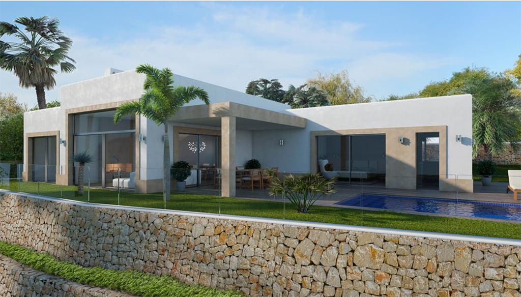 Fachada y jardín de la casa Lucas Graf Projects