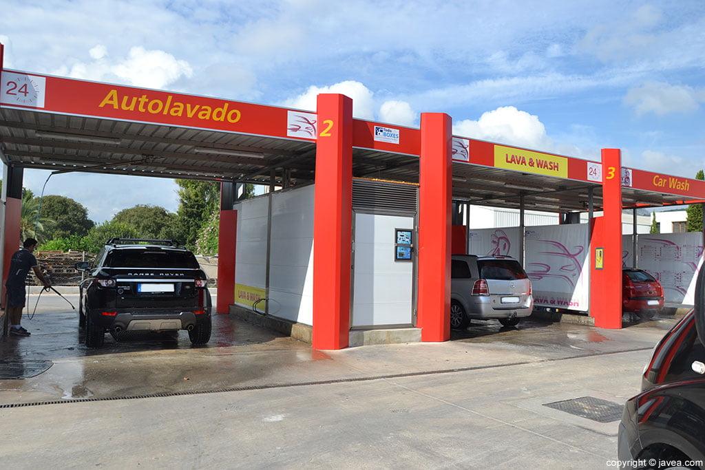 Gasolinera Ecocombustible limpieza coches