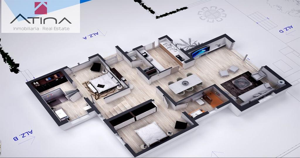 Plano aereo de la casa atina inmobiliaria j - Plano de la casa ...