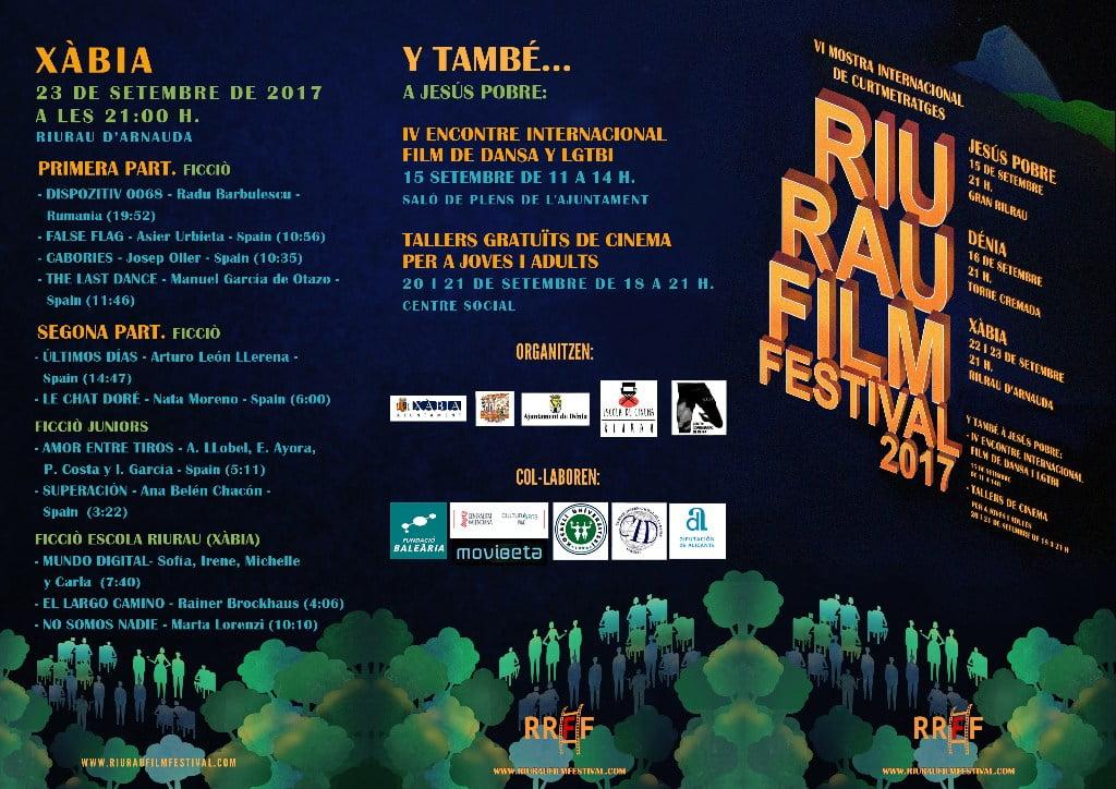 Programación del Riurau Film Festival