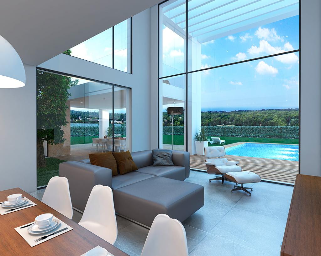 Sala de estar con vistas piscina atina inmobiliaria - De salas inmobiliaria ...
