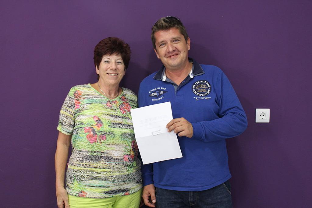 Donativo de AVIB a Servicios Sociales Benitatxell