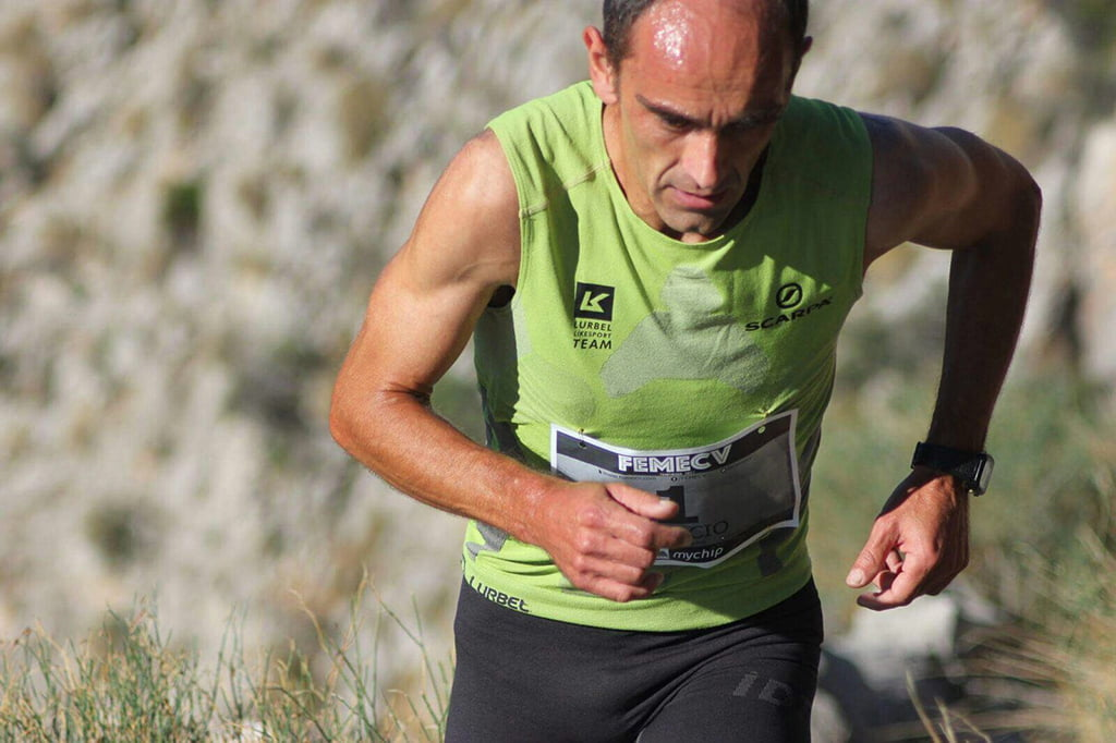 Ignacio Cardona durante la carrera