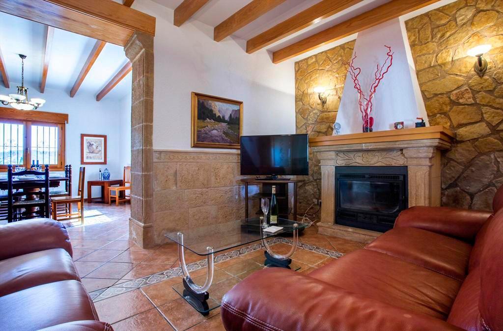 Sala d'estar i menjador Casa Monica Aguila Rent a Vila