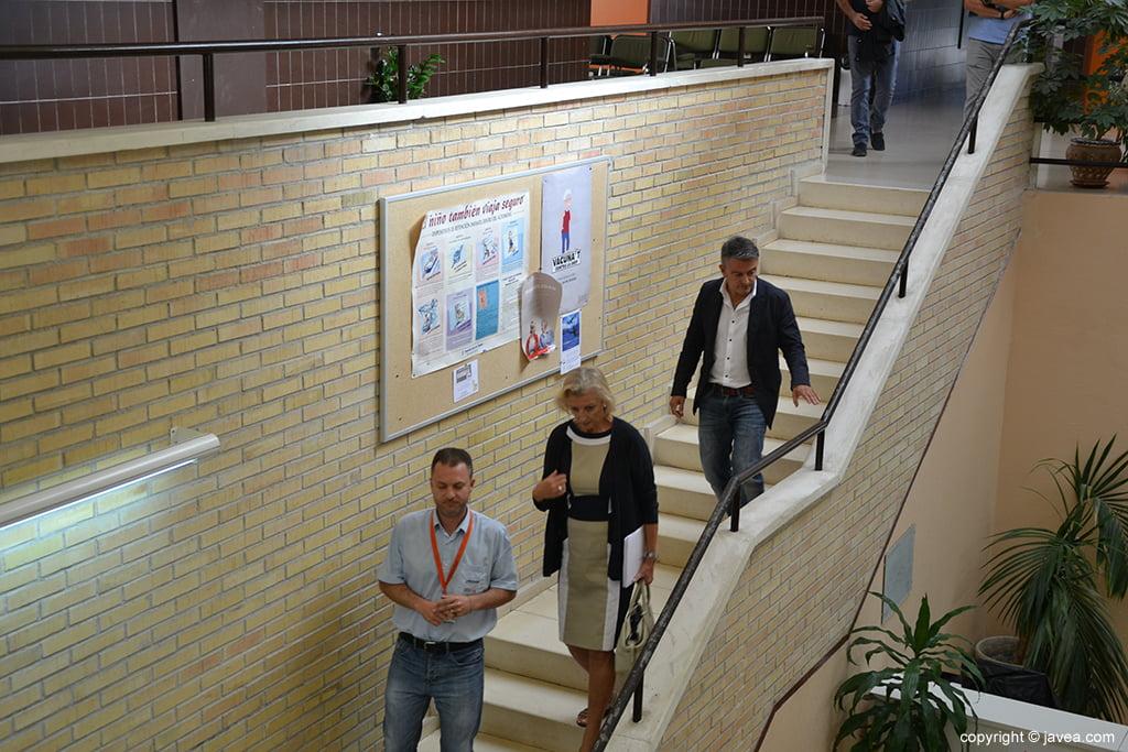 Visita al interior del Centro Salud
