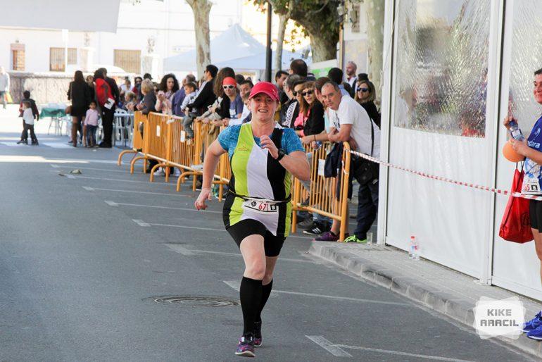 Atleta xabiera entrando en meta