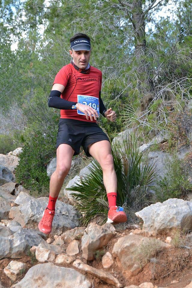 Julio Almazán en el transcurso de la carrera