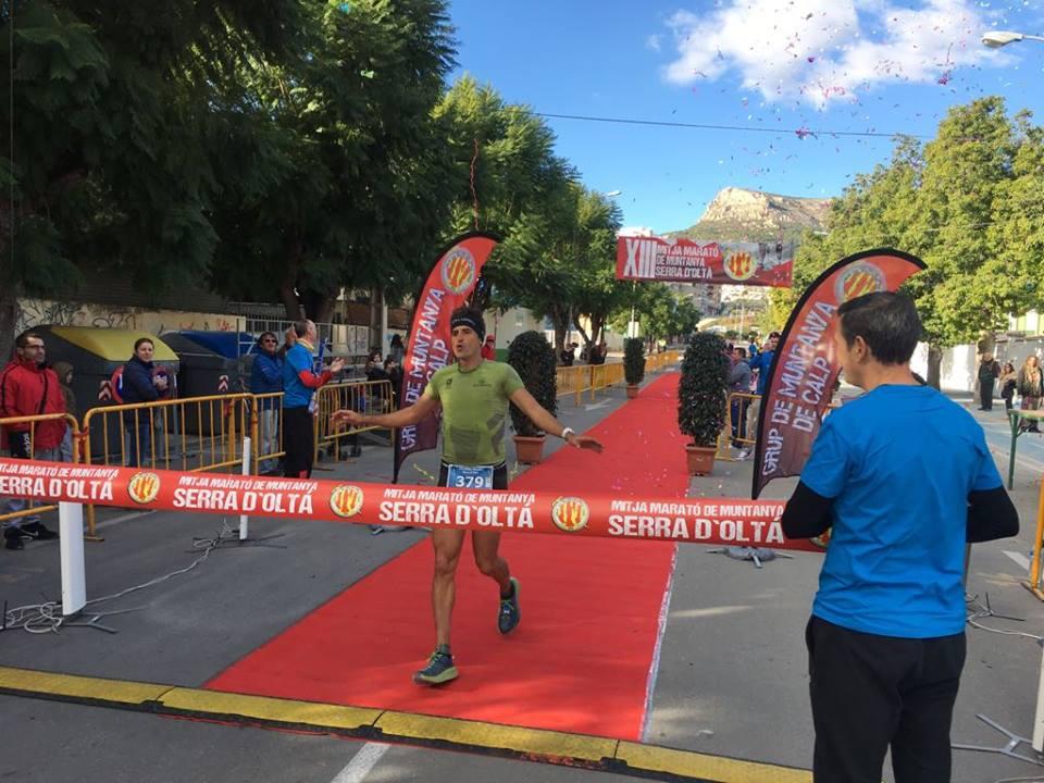 Miguel Ángel Sánchez llegando a meta