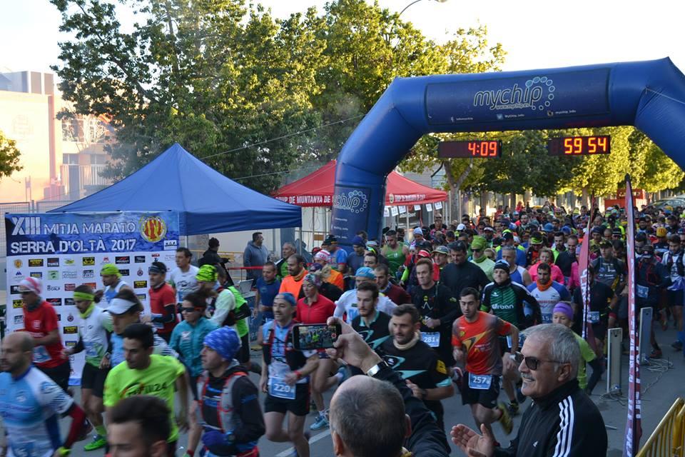 Salida de la Mitja Marató d'Olta de Calp
