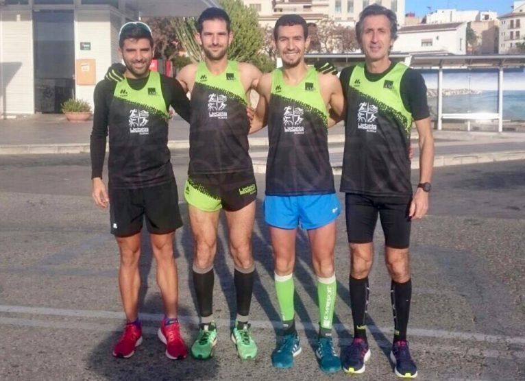 Cuarteto que va al Nacional de Medio Maratón