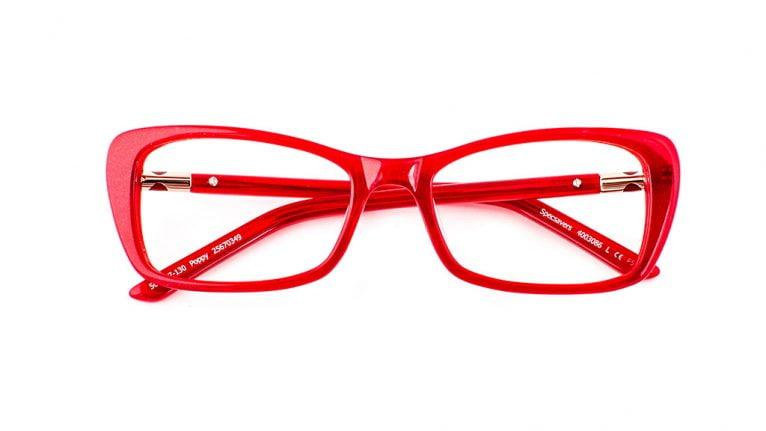 Gafas rojas carnaval Specsavers Opticas