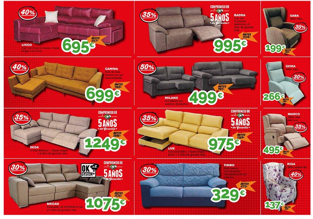 Modelos de sofá rebajas Ok Sofás