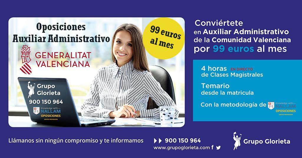 Oposiciones auxiliar administrativo Academia La Glorieta