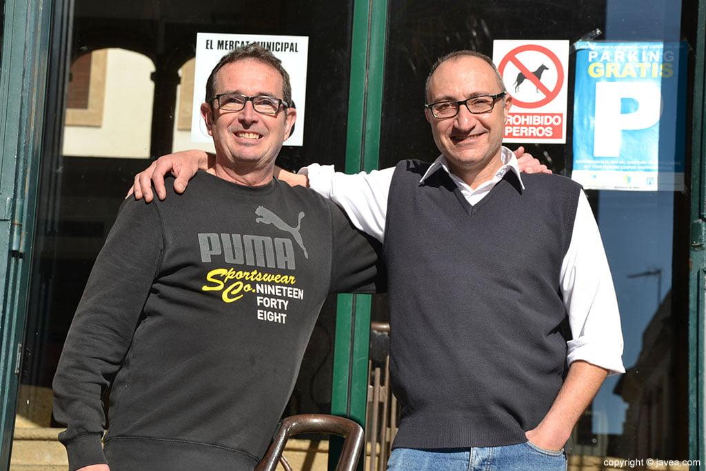 Rafa Expósito y Miguel Ángel Roselló del Mercat de Xàbia
