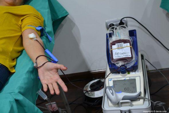 Donación de sangre en Portal de la Marina