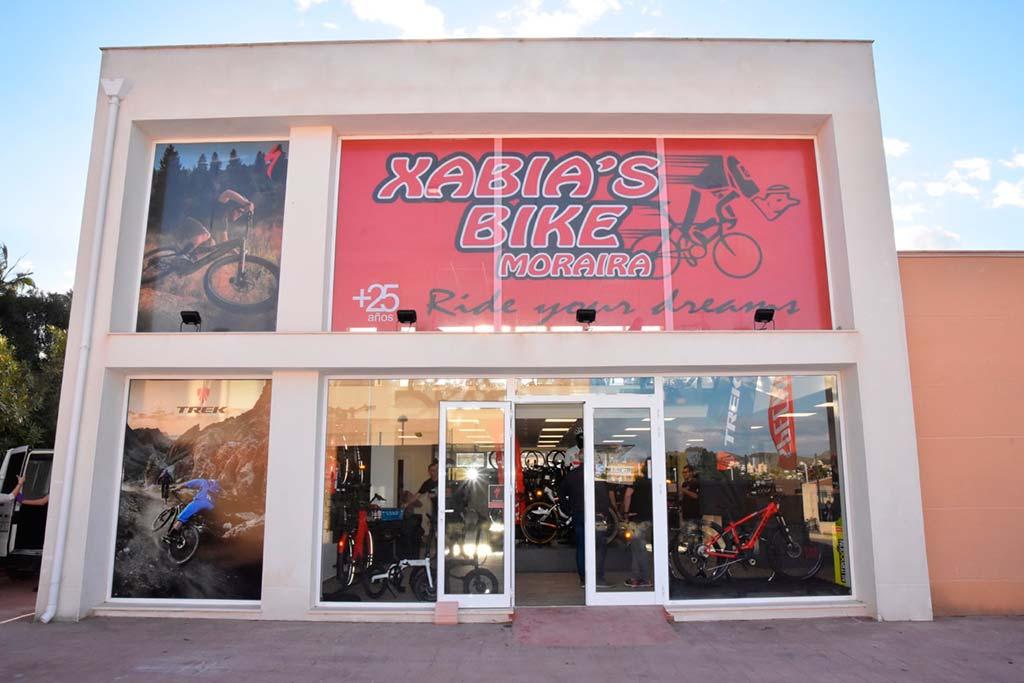 Fachada de la tienda Xabia's Bike