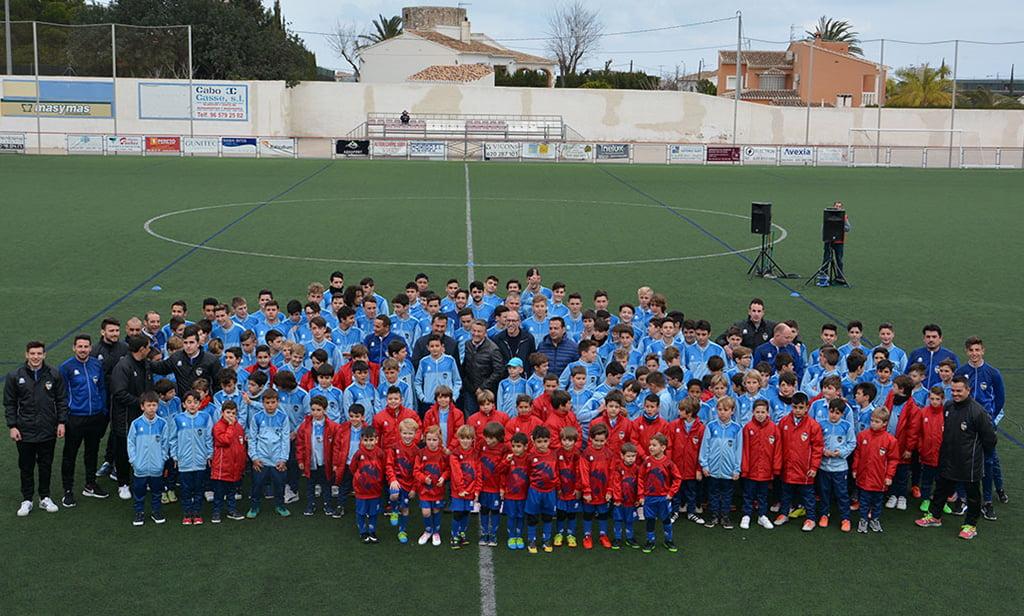 Presentación Escuela de fútbol del CD Jávea año 2017