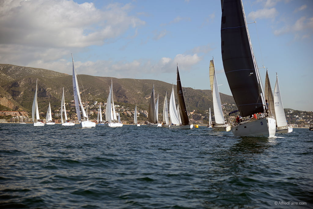 Barcos de la versión Dénia de la Ruta de La Sal