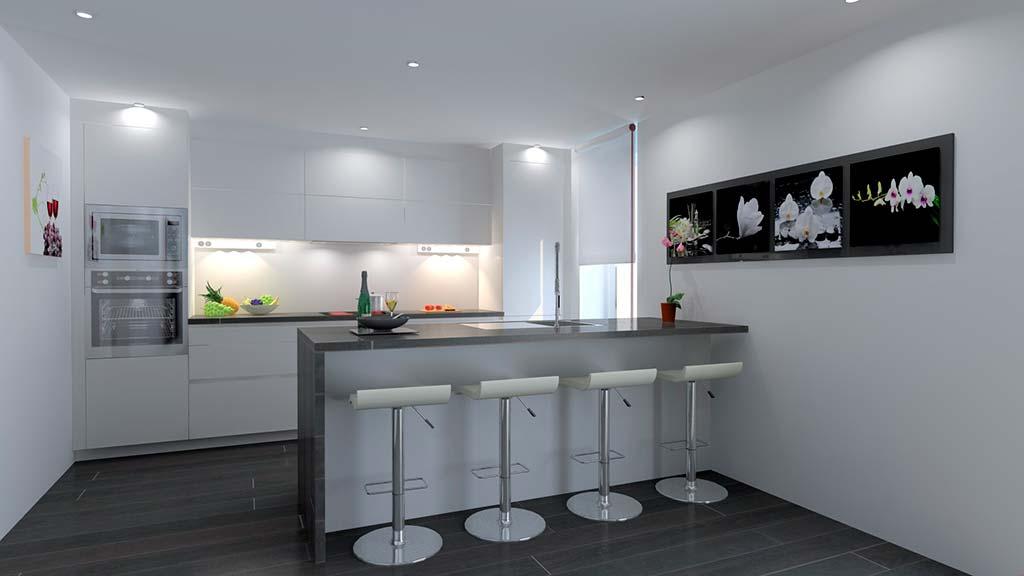 Cocina moderna lucas graft j x for Casa moderna javea