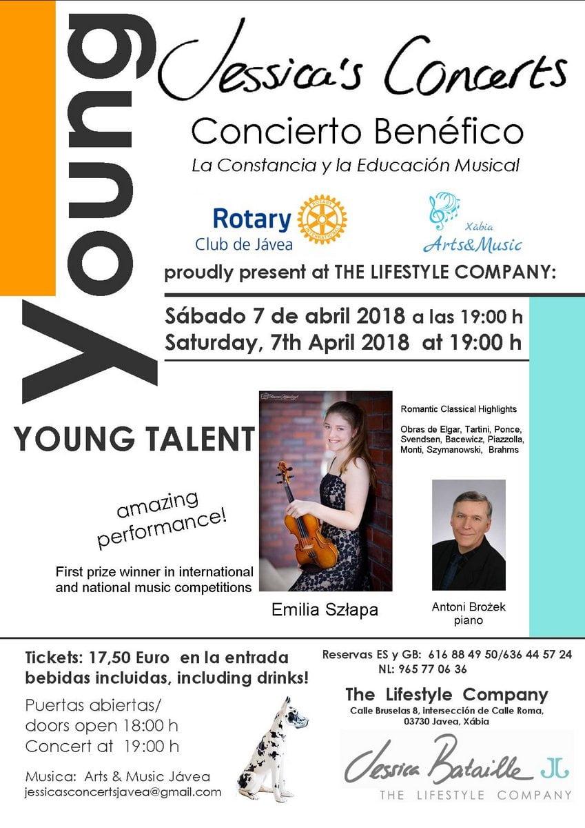 Benefit concert of the polish violinist emilia szlapa - Jessica bataille ...