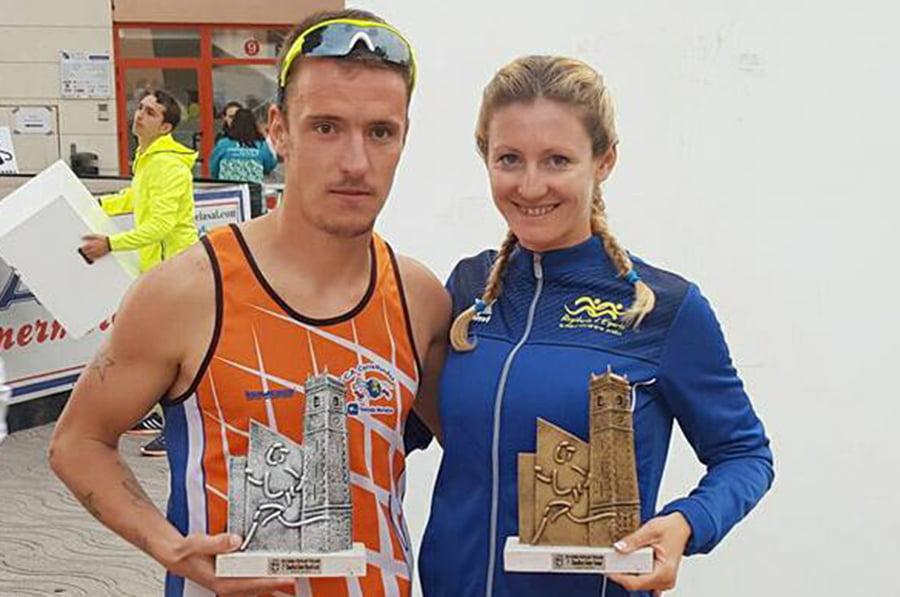 Le local Adrián Vallés avec Cristina Roselló