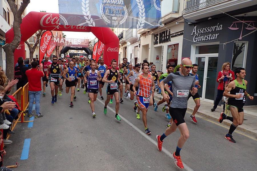Premiers mètres de la course
