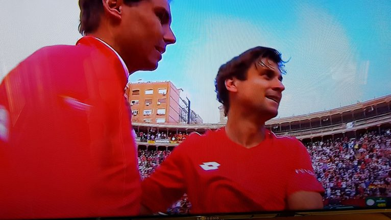 Rafa Nadal junto a David Ferrer
