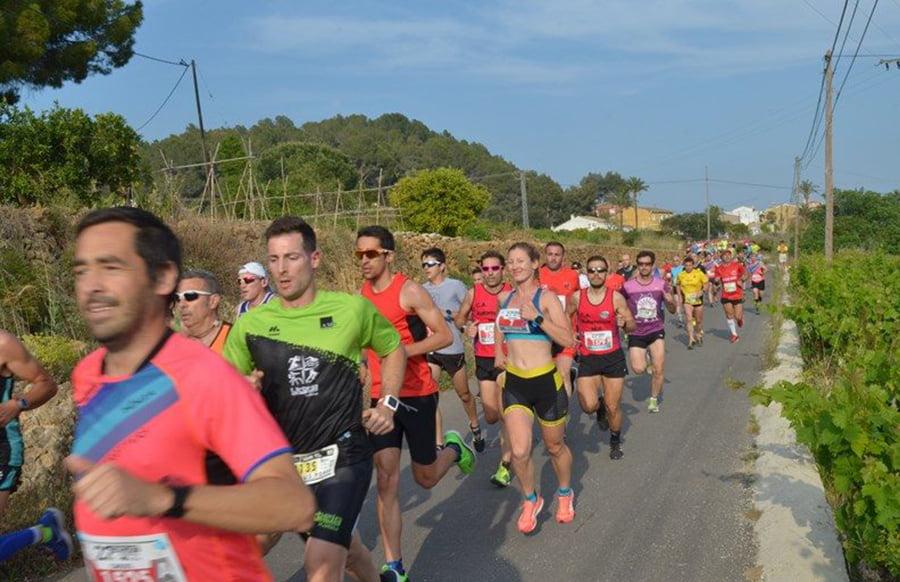 Cristina Roselló au milieu de la course