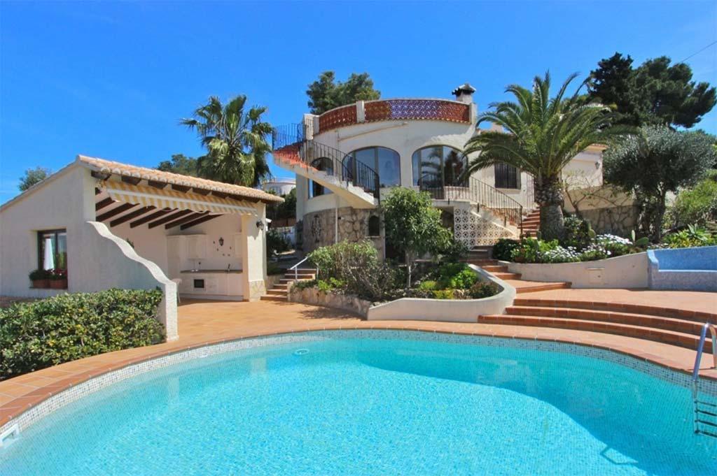 belle villa ensoleill e dans le balc n al mar de j vea vendre villadom espagne. Black Bedroom Furniture Sets. Home Design Ideas