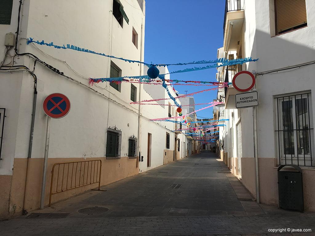 Calle engalanada Xàbia