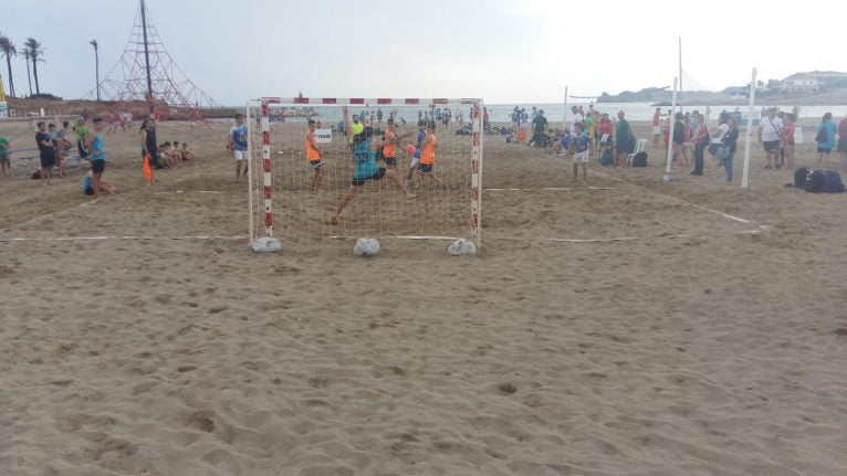 Partido de la Liga de Handbol Playa
