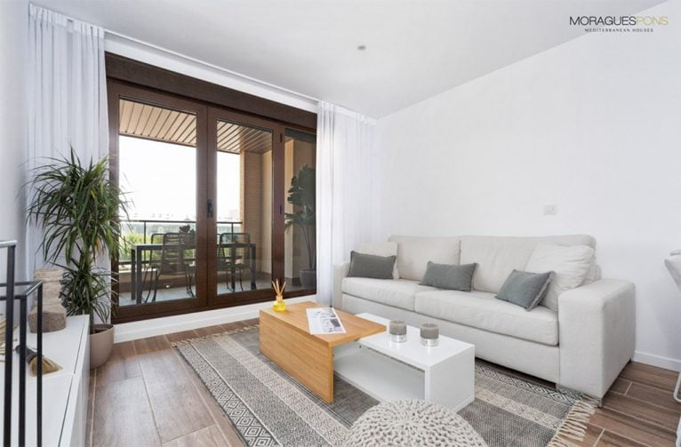 Sala de estar MORAGUESPONS Mediterranean Houses