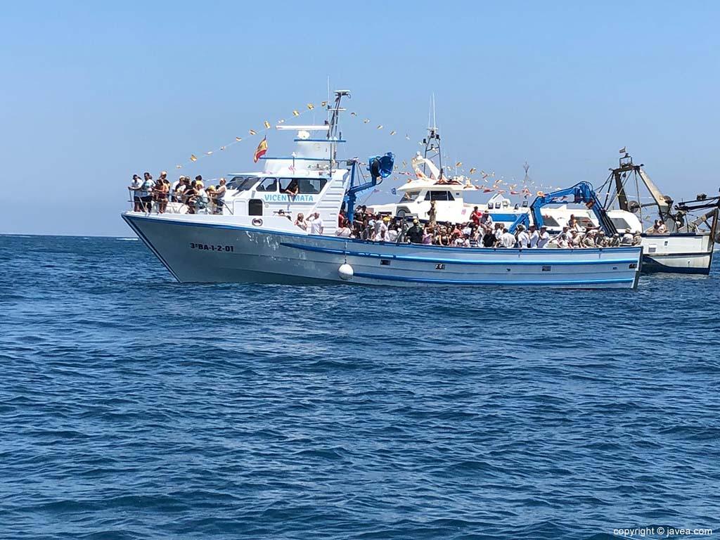 Embarcación Vicente Mata encargada del traslado de la Virgen