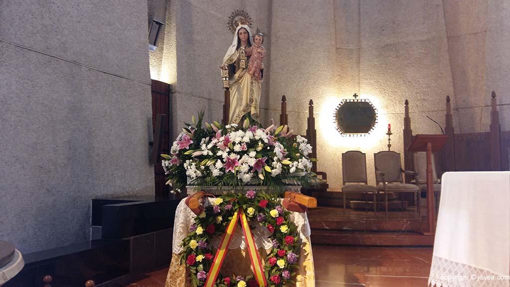 La imagen de la Virgen del Carmen 2018