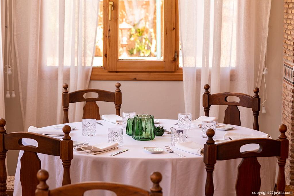Mesa con vistas Restaurante Canali
