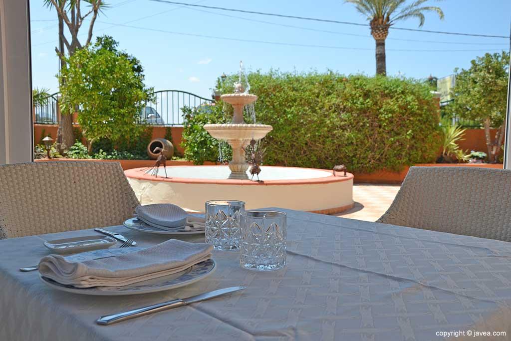 Mesa exterior Restaurante Canali