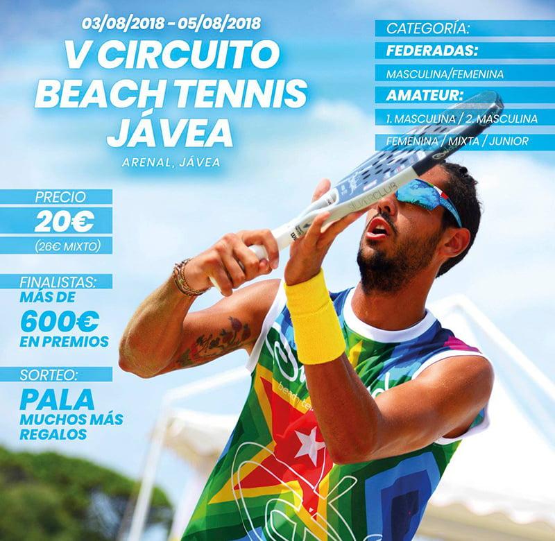 Cartel de Torneo de Tenis Beach 2018