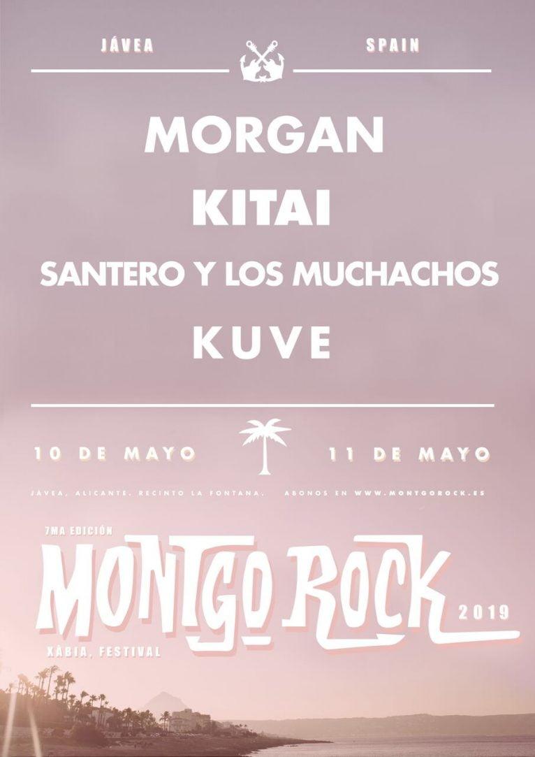 Cartel primeros artistas del Montgorock Xàbia Festival  2019