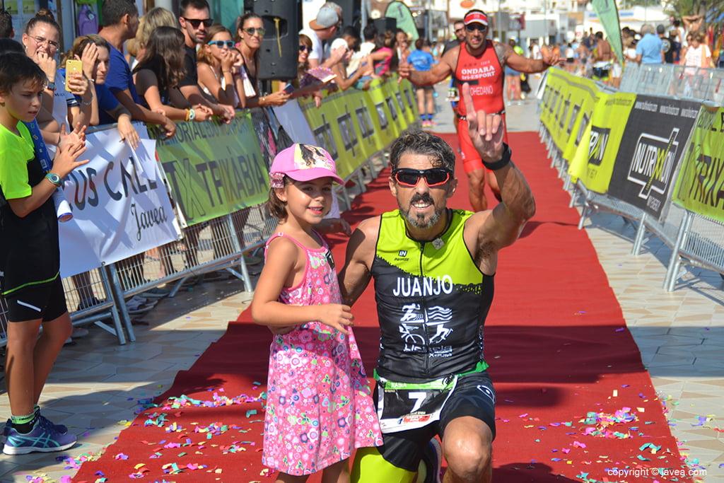 Juanjo VAllés con su hija