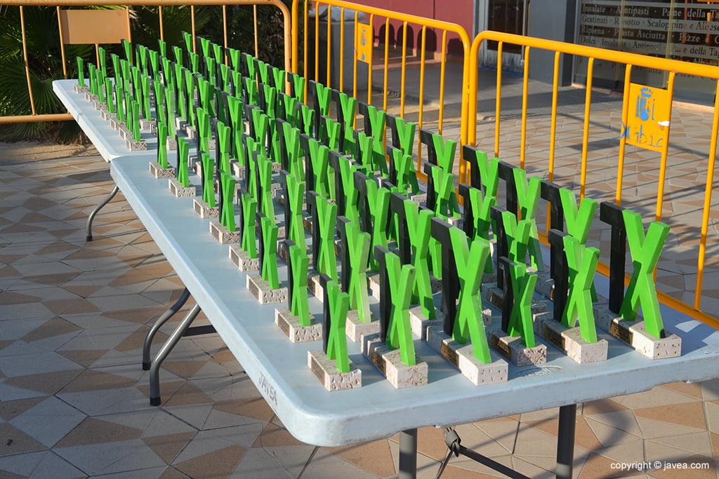 Trofeos del VII Trillebeig Xábia