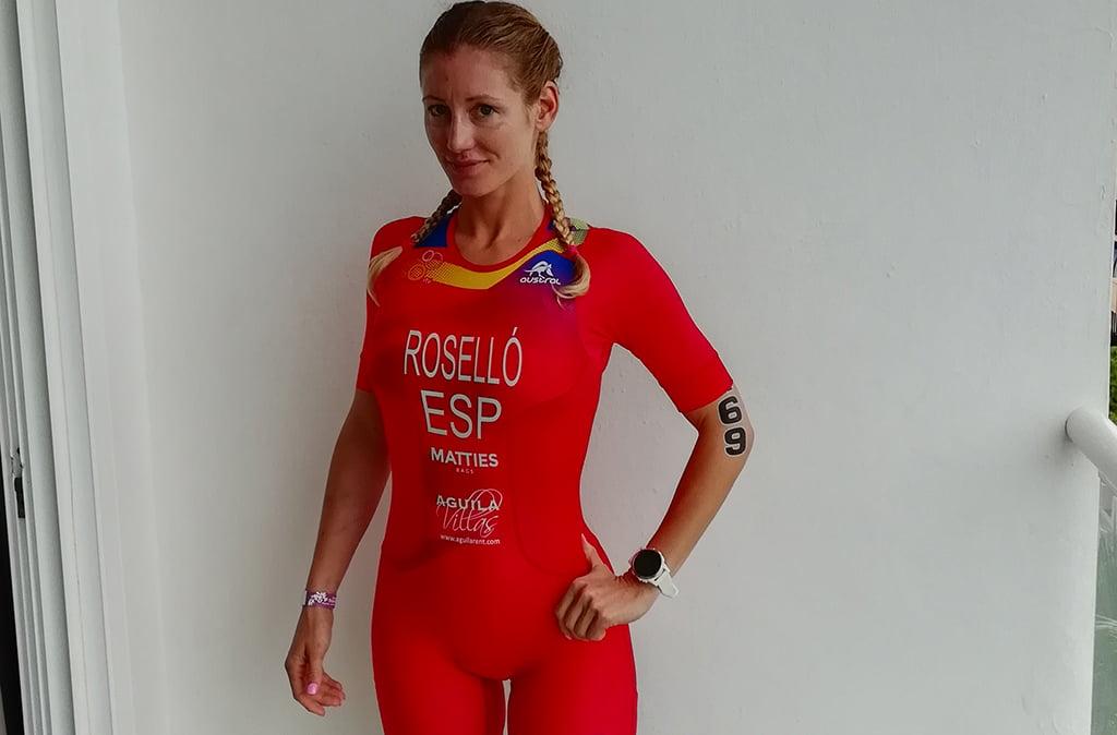 Cristina Roselló preparada a l'hotel