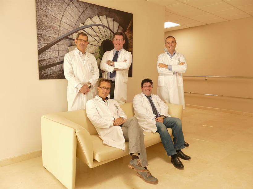 Equipo cardiólogos Hospital Clínica Benidorm