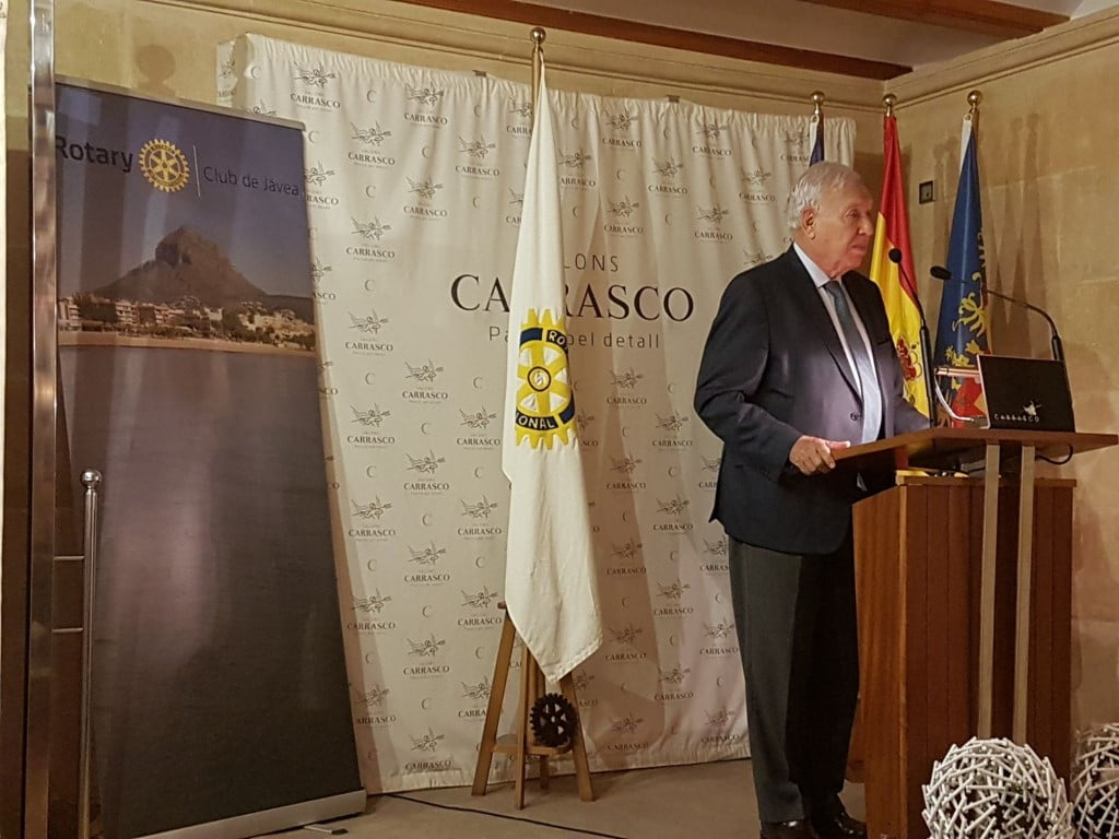García Margallo durante una conferencia en Xàbia