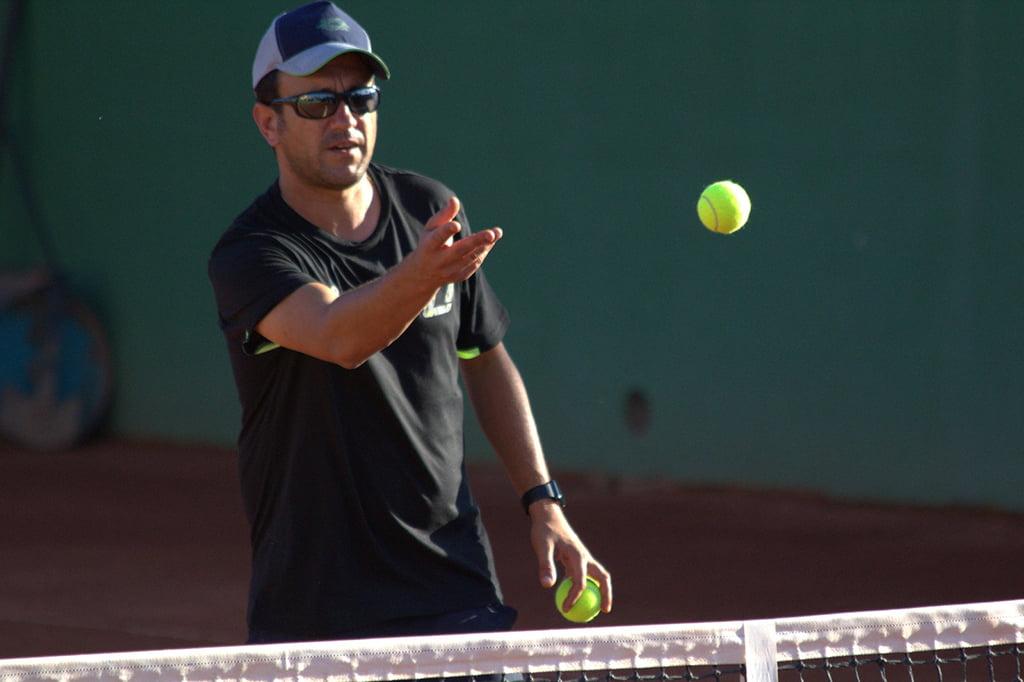 Javier Ferrer durante un entrenamiento