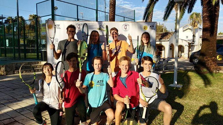 Jugadores de la Academia Tenis Ferrer