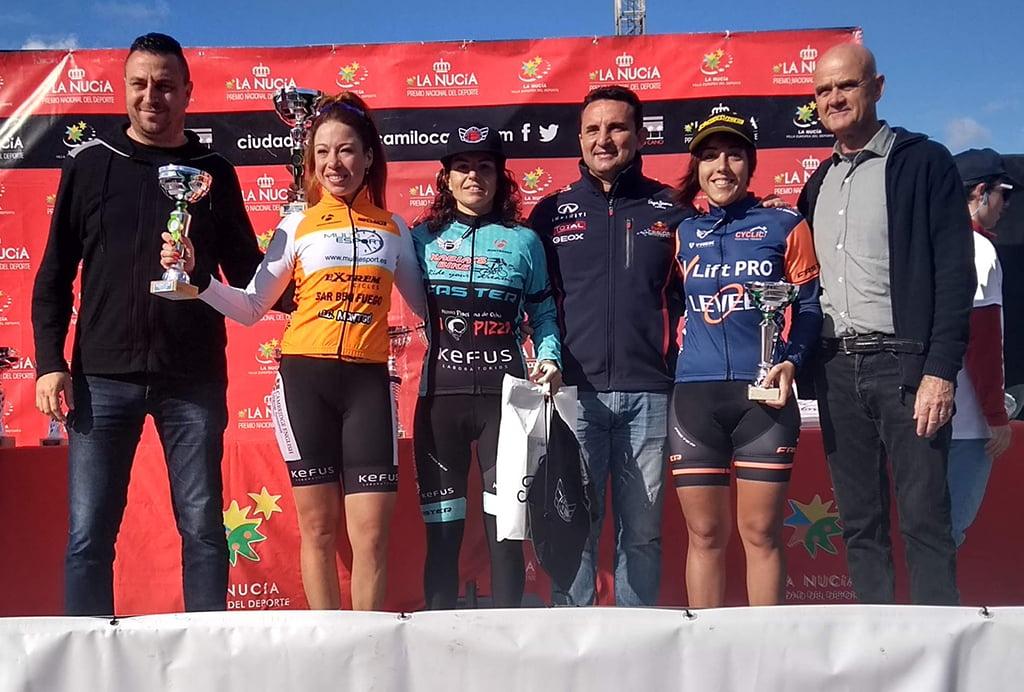 Alicia Margalejo en el podio de La Nucia