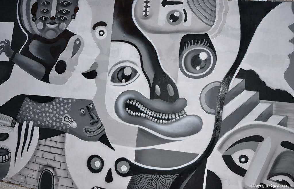 Dibujos del mural de Gabriel